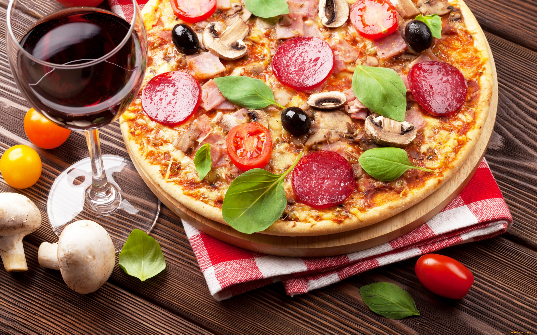Картинки пиццы и вина